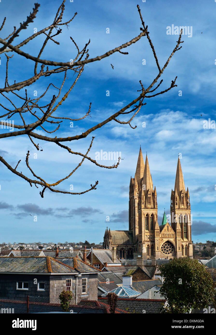 Truro Cathedral Cornwall Diocese of Truro - Stock Image