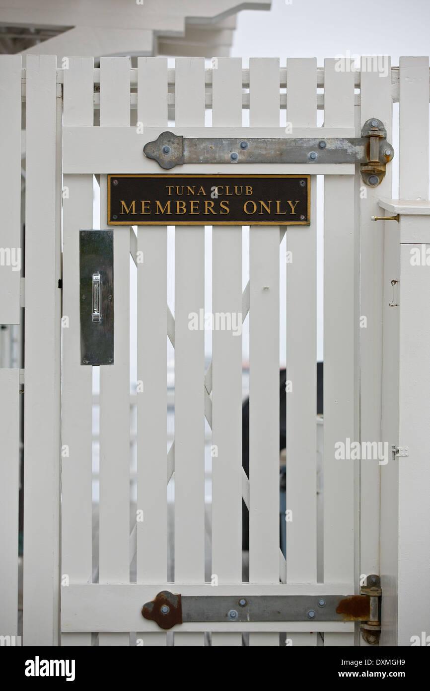 Tuna Club, Members Only ! (Avalon, Catalina Island, California). - Stock Image