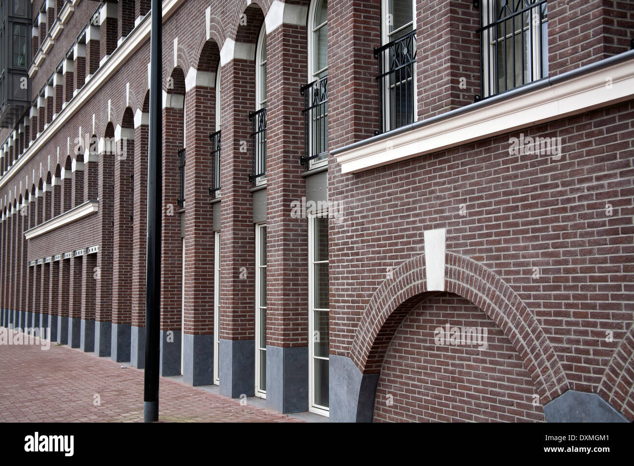Redevelopments on Amsterdam Eastern Docklands, the Netherlands - Stock Image