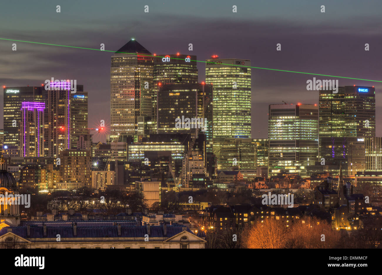 Canary Wharf, London Docklands - Stock Image