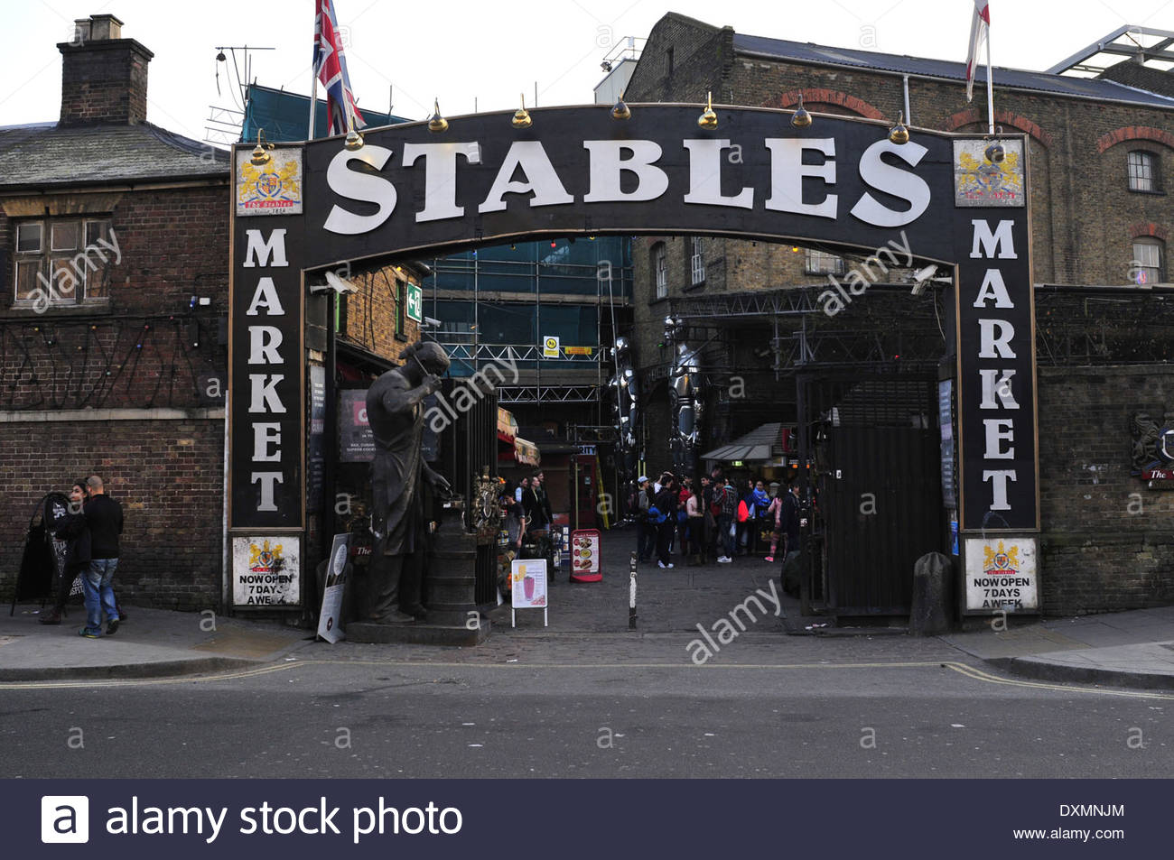 A general view of the entrance of  stables market in Camden Town, London - Stock Image