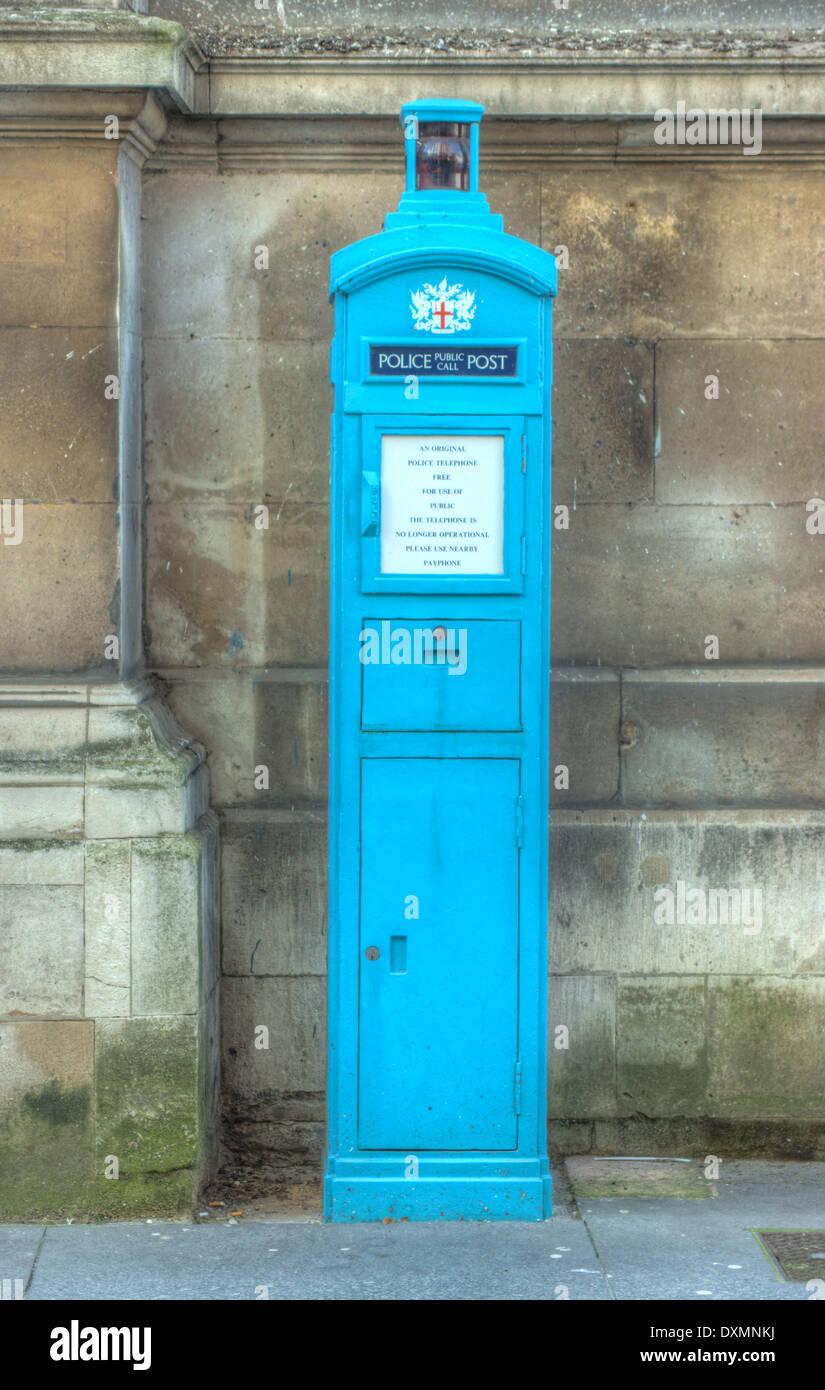 old police phone box,  London - Stock Image