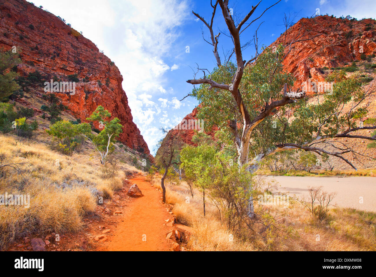 Simpson's Gap West MacDonnell Ranges Central Australia Northern Territory - Stock Image