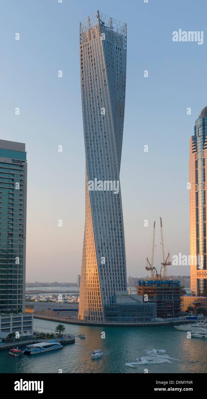 Cayan Tower - Dubai Marina - Stock Image