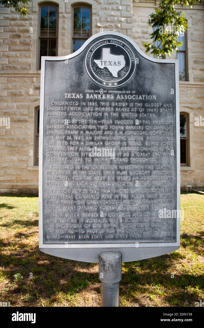 TEXAS BANKERS ASSOCIATION  Organized in 1885, this group is the oldest and largest (with 1,150 member banks as of 1969) State Ba - Stock Image