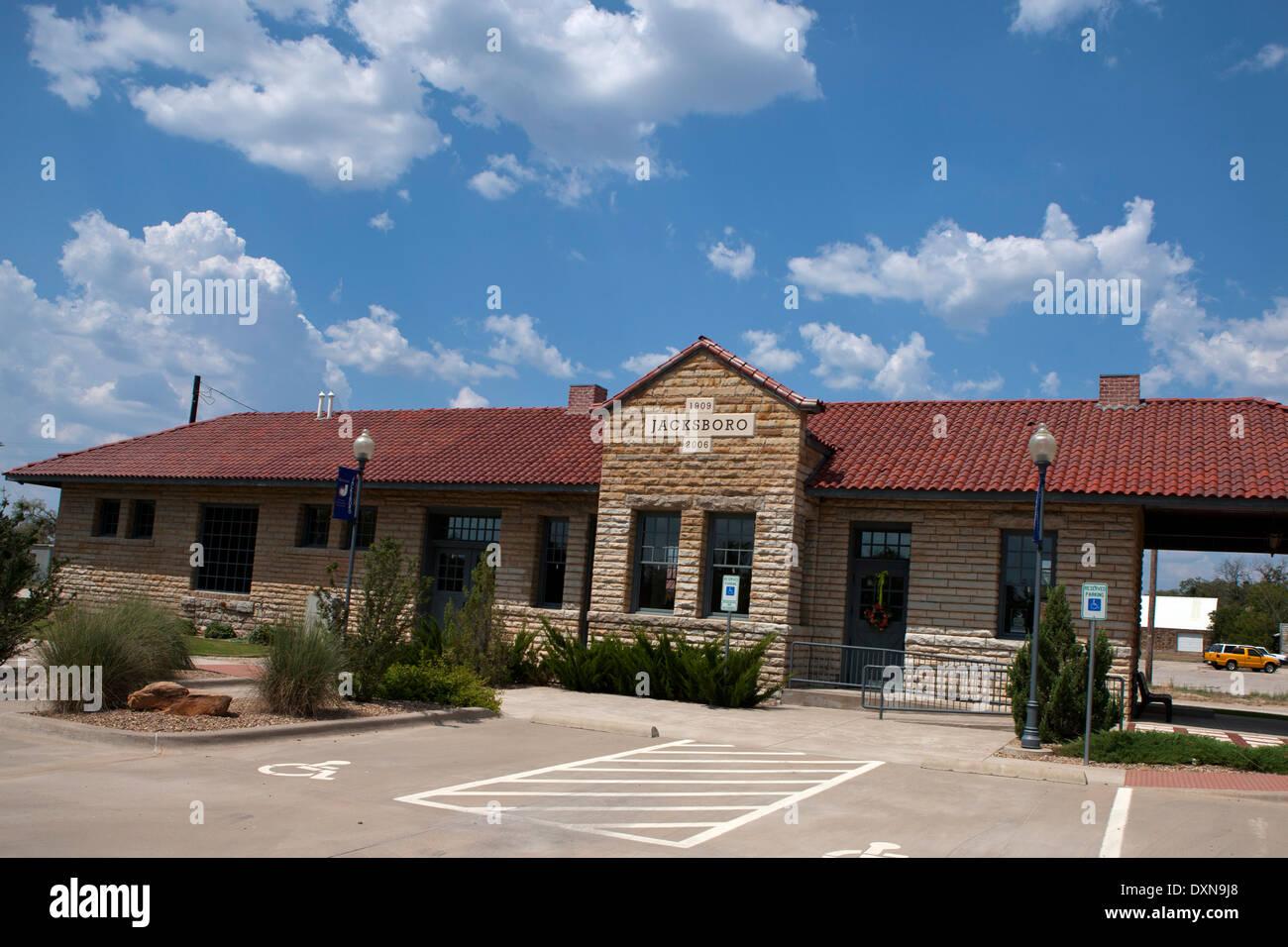 Visitors Center, Jacksboro, Texas, United States of America Stock Photo