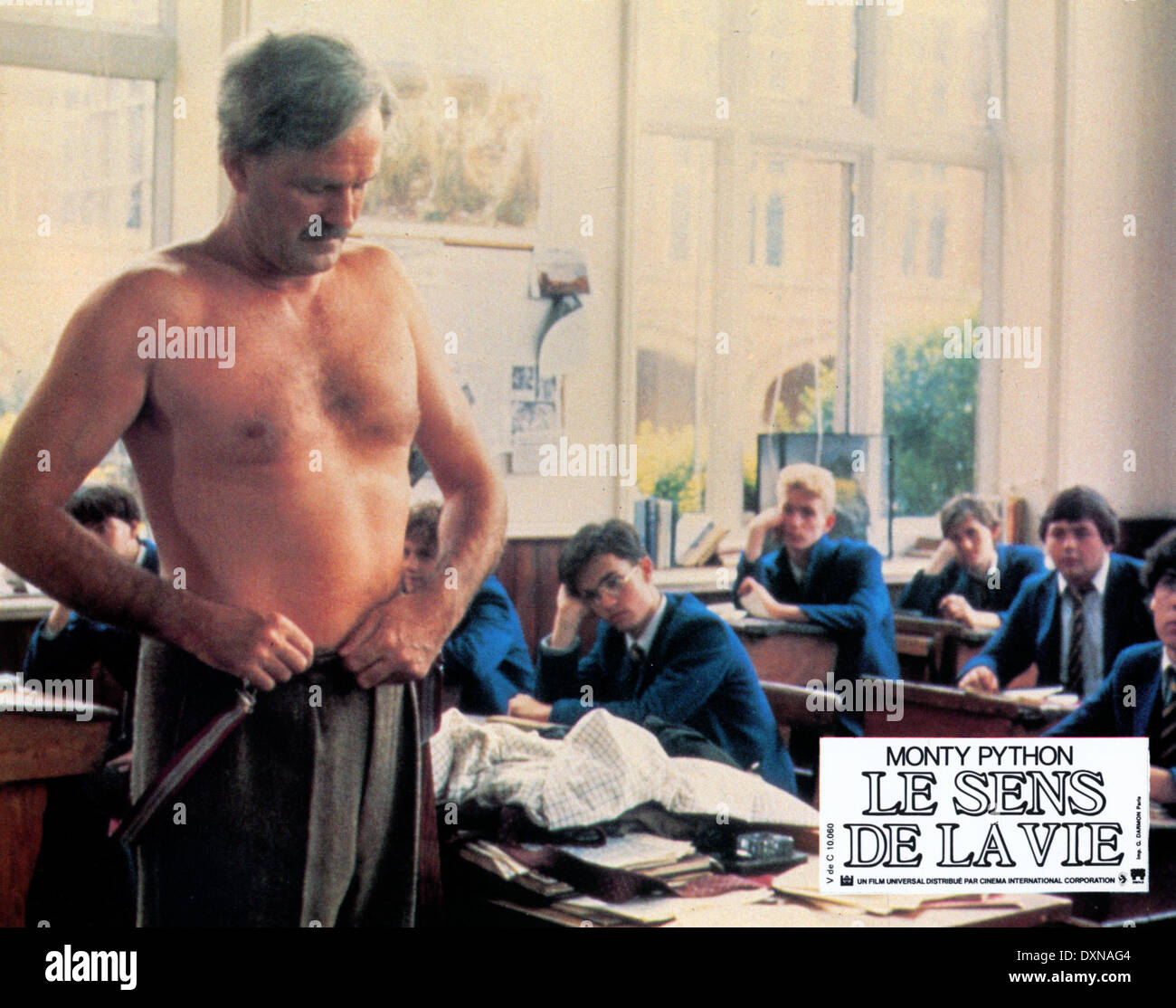 Monty Python The Royal Philharmonic Orchestra Goes To The Bathroom: Monty Pythons Meaning Life 1983 Stock Photos & Monty