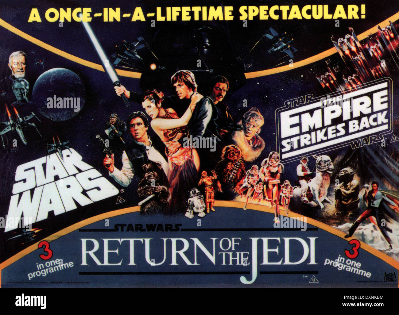 Star Wars Trilogy Star Wars Episode Iv A New Hope Stock Photo Alamy