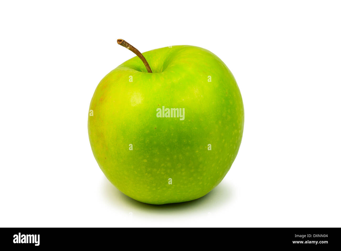 Fresh green apple isolated on white background Stock Photo