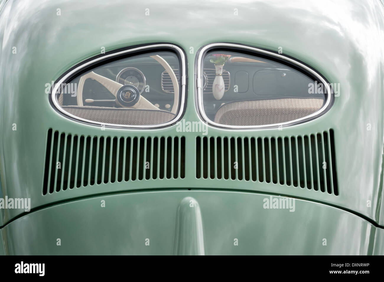 Twin rear window Beetle. - Stock Image
