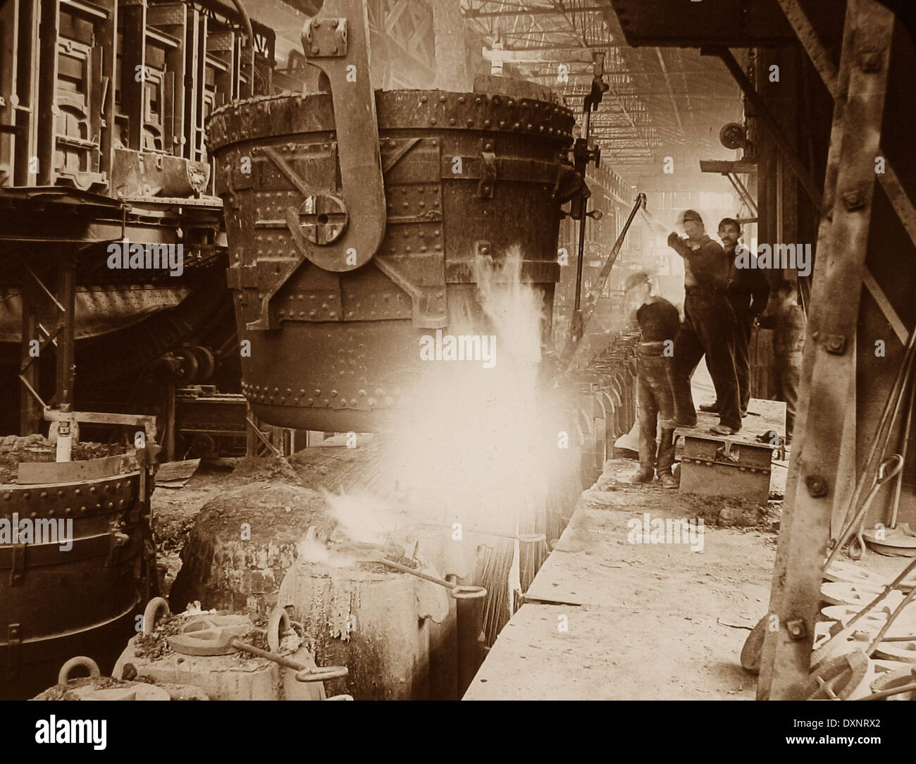Steelworks Pittsburg Pennsylvania USA early 1900s Stock Photo