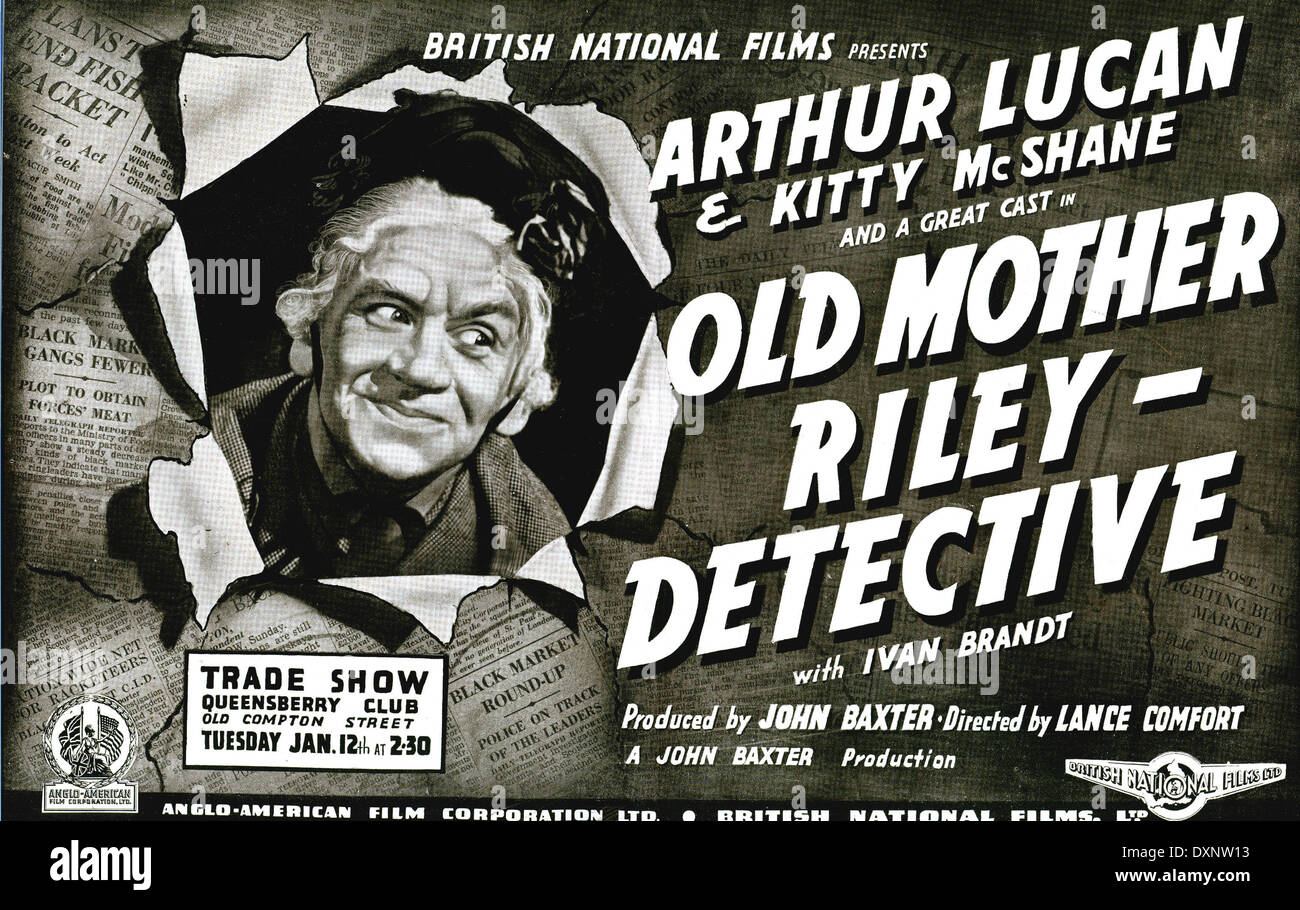 OLD MOTHER RILEY DETECTIVE - Stock Image
