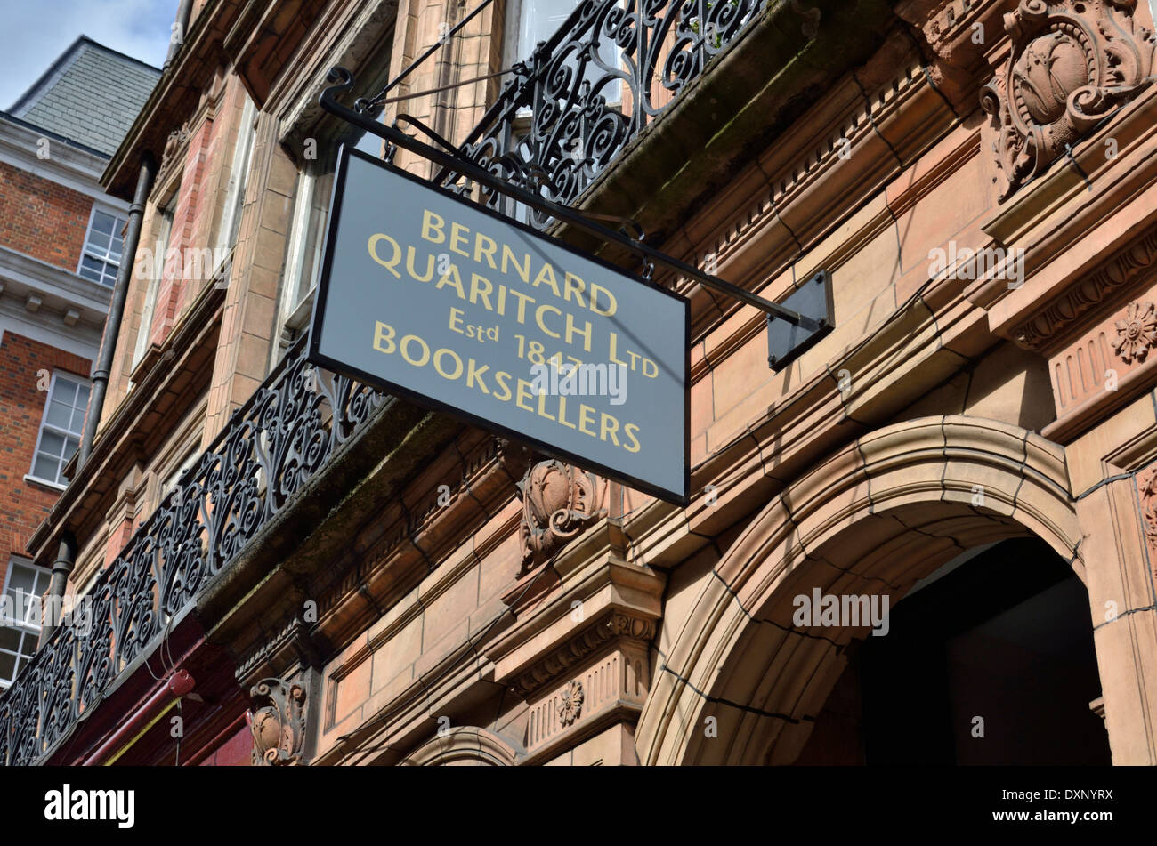 Bernard Quaritch Limited Booksellers in Mayfair, London, UK. - Stock Image