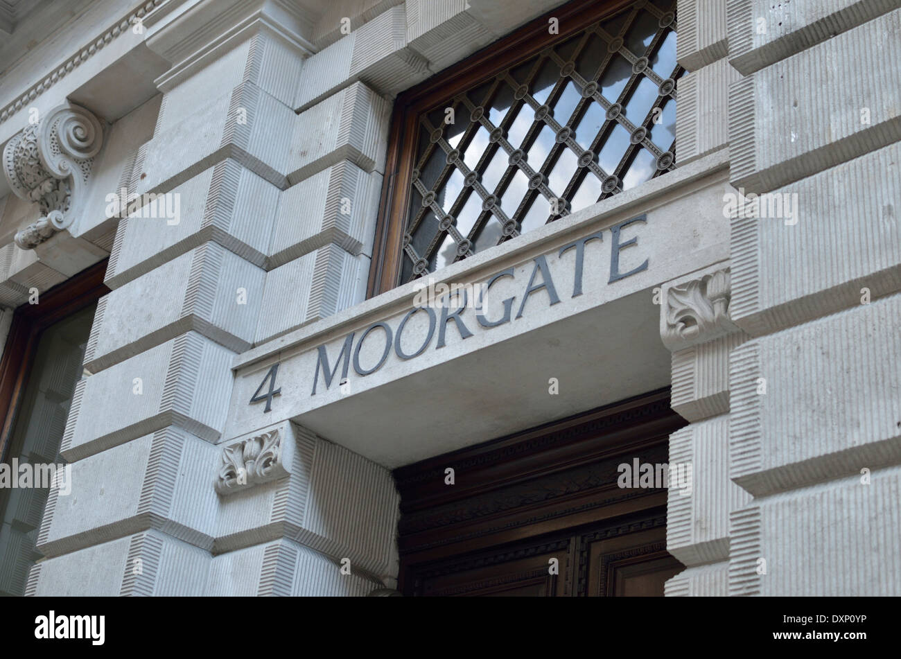 Number 4 Moorgate, London, UK. - Stock Image