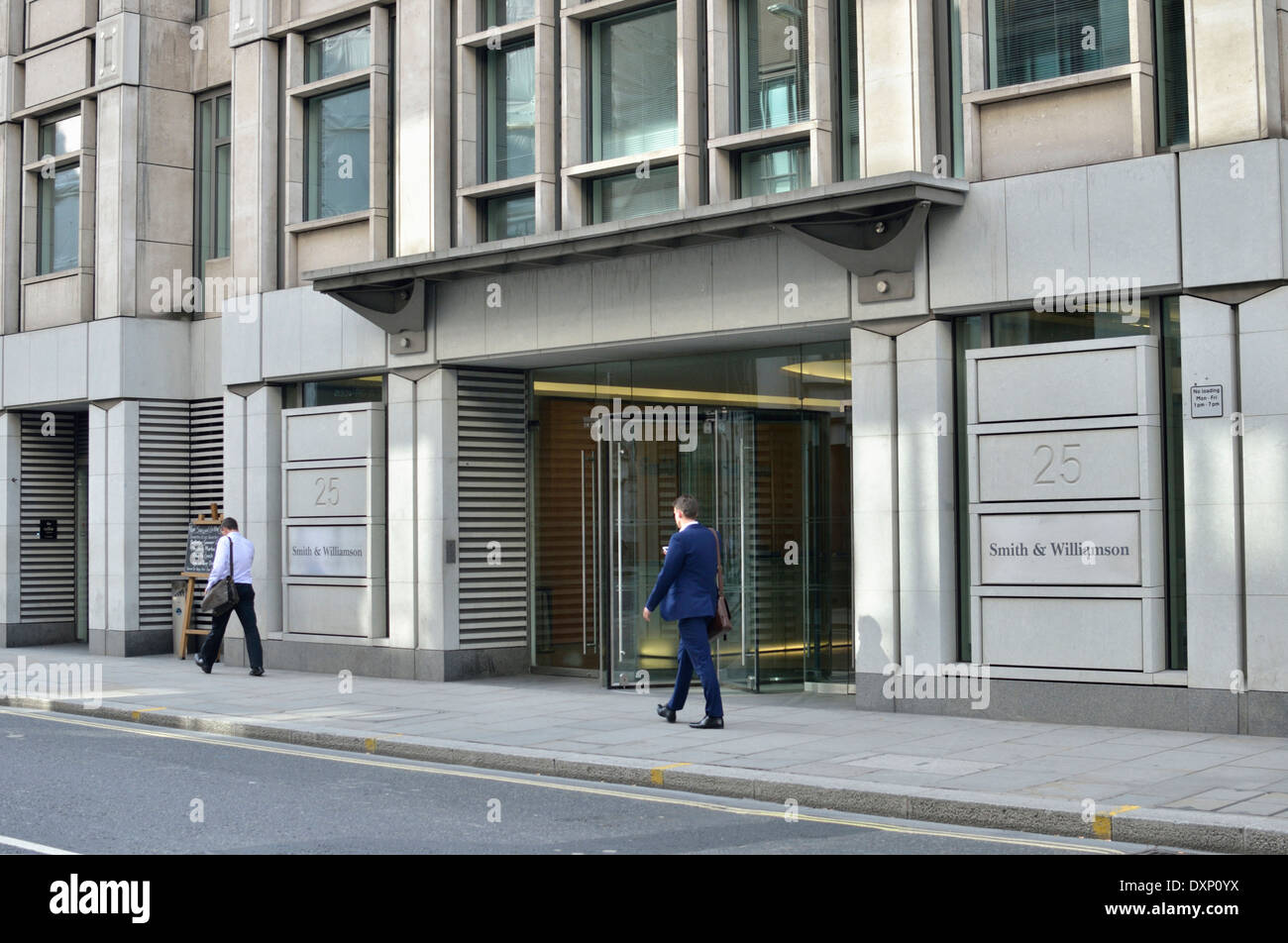 Office building at number 25 Moorgate, London, UK. - Stock Image