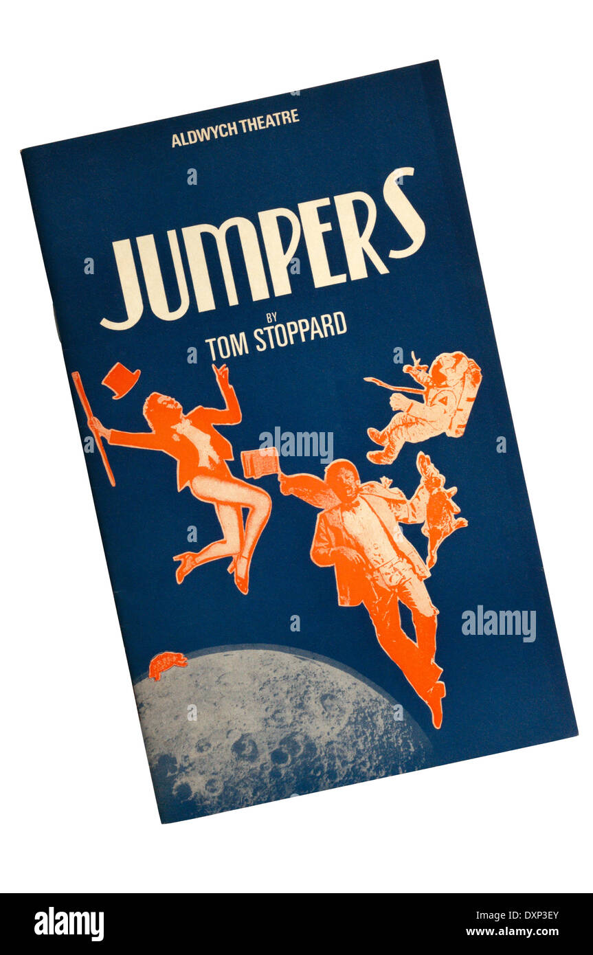Programme for the 1985 production of Jumpers by Tom Stoppard at the Aldwych Theatre. - Stock Image