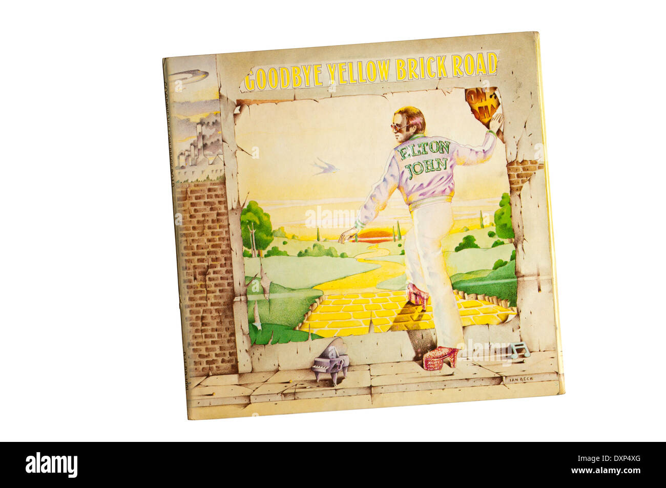 Goodbye Yellow Brick Road was the 7th studio album by the British singer-songwriter Elton John. It was released in 1973. - Stock Image