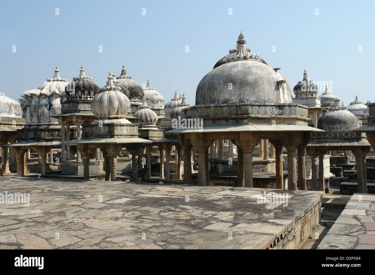 scenery at the Ahar Cenotaphs located in Ahar near Udaipur in India - Stock Image