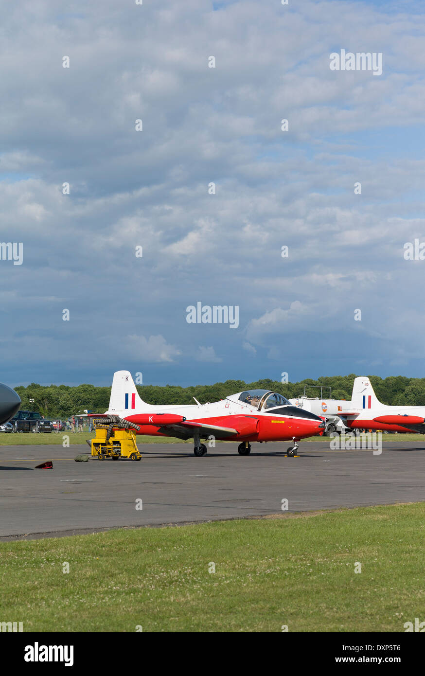 Jet Provost T5 two-seat training aircraft at a show in UK Stock Photo