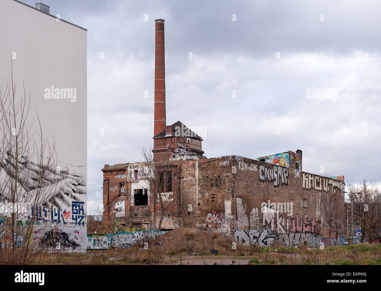 Berlin, Germany, ruin the ice factory in the Koepenicker Street - Stock Image