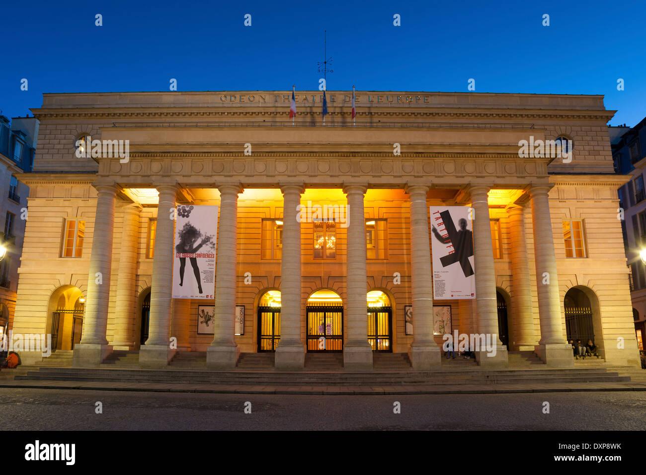 Theatre National de l'Odeon, Paris, France - Stock Image