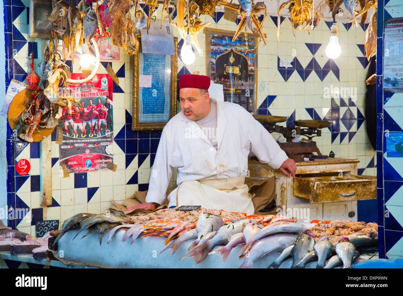 Fish market, Sousse, Tunisia Stock Photo