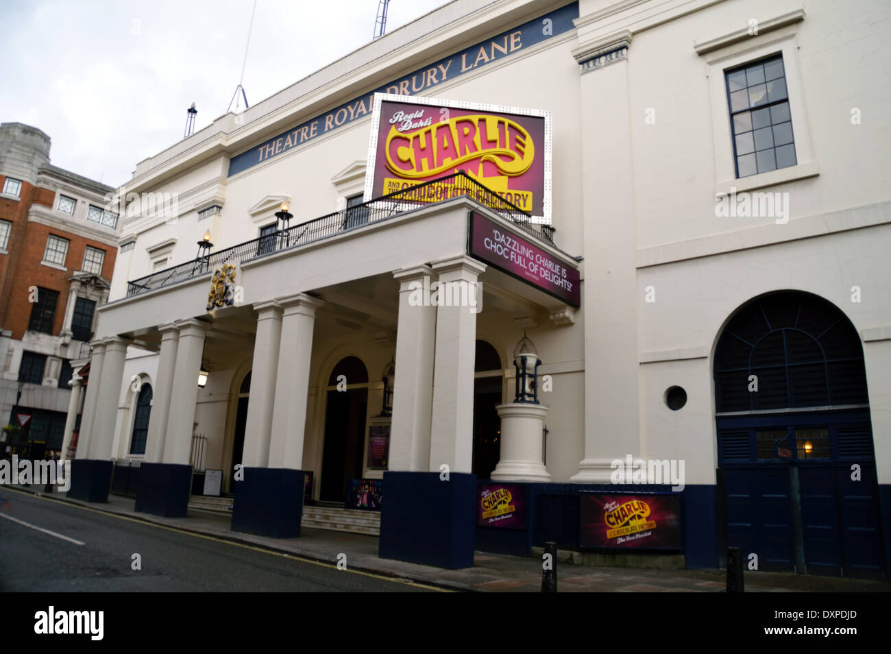 The outside of the Threatre Royal in Londons Drury Lane - Stock Image