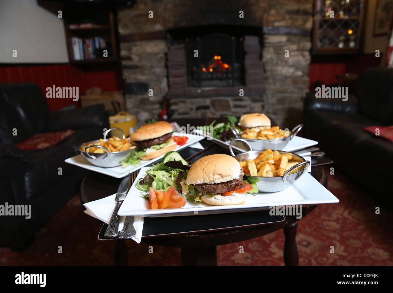 Cosy Pub good food - Stock Image