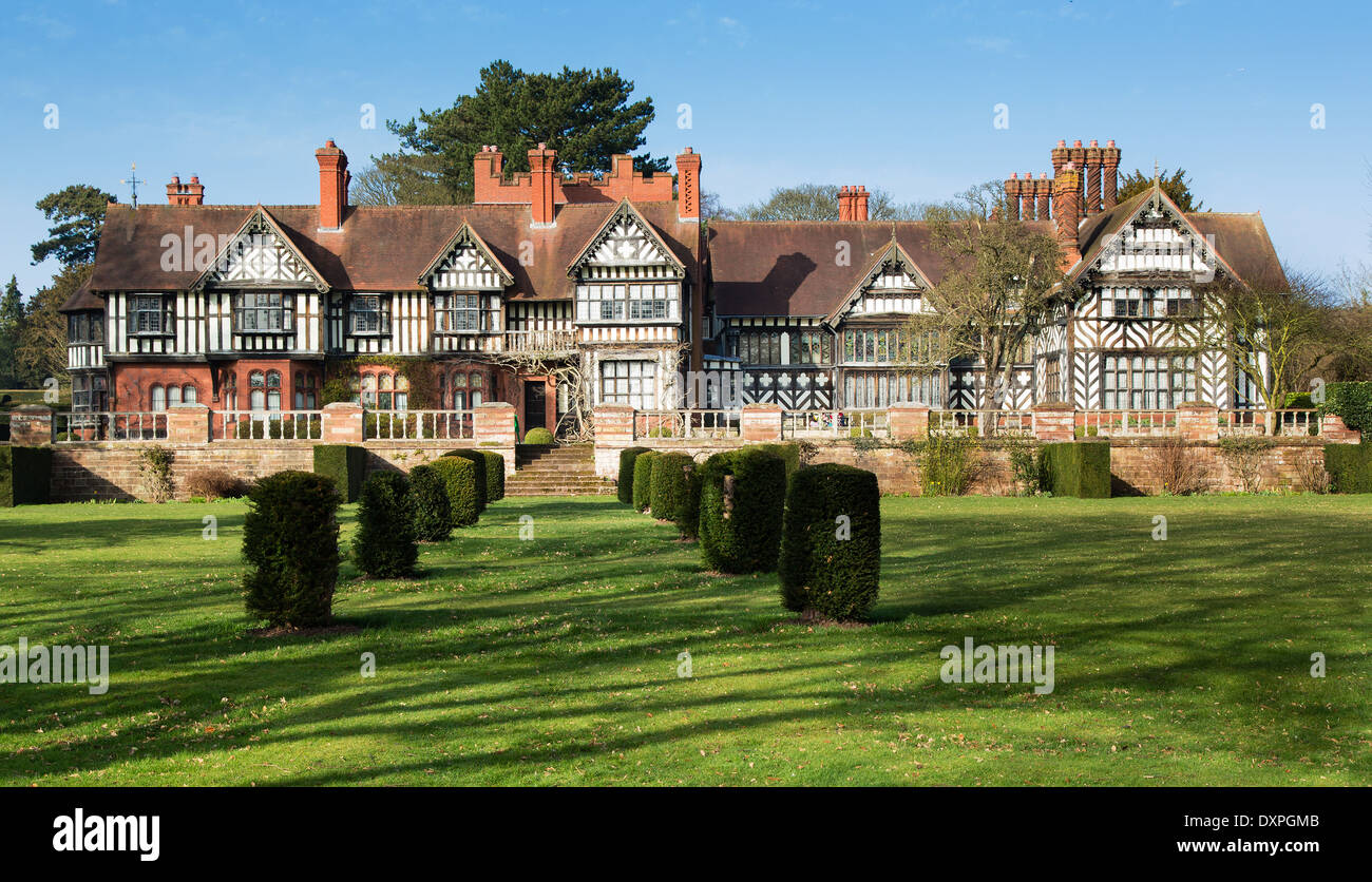 Wightwick Manor a Victorian Arts and Crafts house influenced by William Morris and the Pre Raphaelites near Wolverhampton UK - Stock Image
