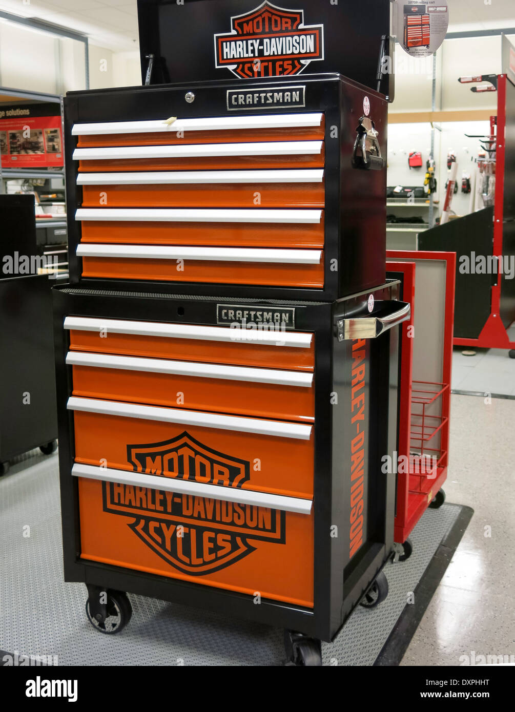 Craftsman Tool Box Harley Davidson Wiring Diagrams Commercial Single Receptacle Outlet 20a 250v 6 20r Bulk 5821 W Ebay Specialty Branded Chest Sears Store Stock Rh Alamy Com Boxes