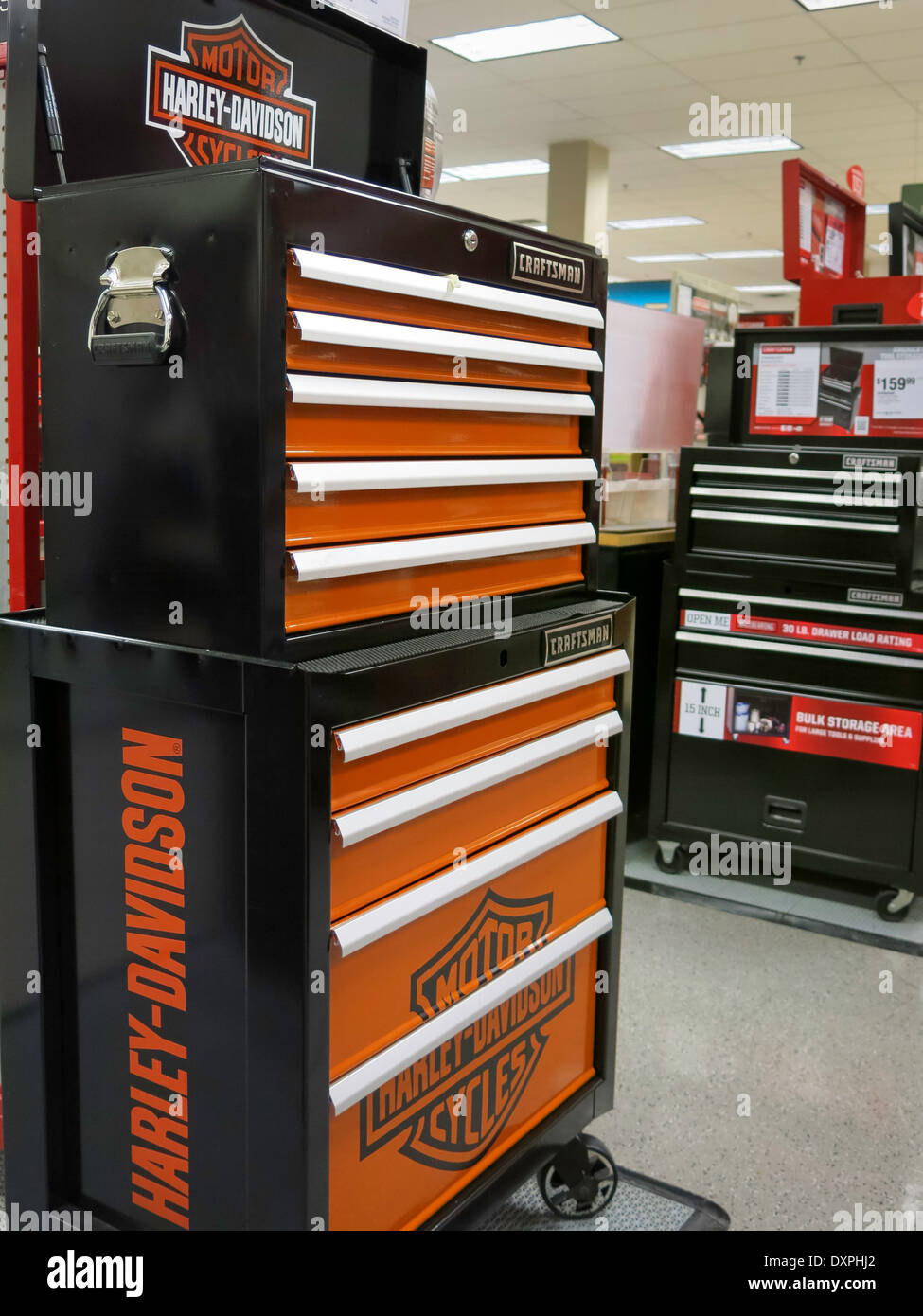 Harley Davidson Specialty Branded Tool Chest Sears Store Tool Stock Photo Alamy