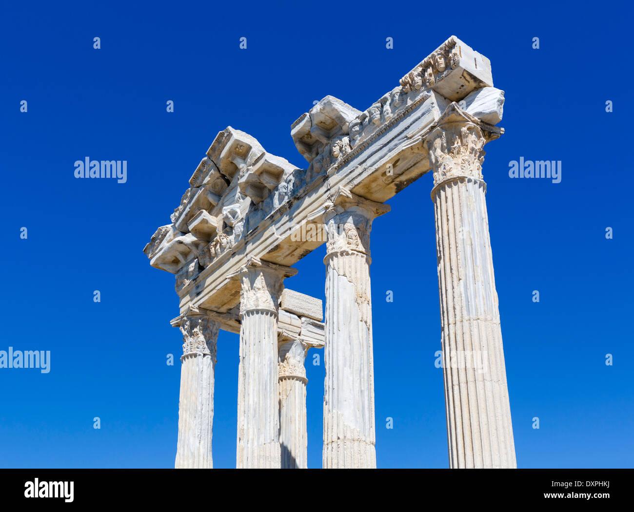 Ruins of the Temple of Athena, Side, Pamphylia, Antalya Province, Turkey - Stock Image