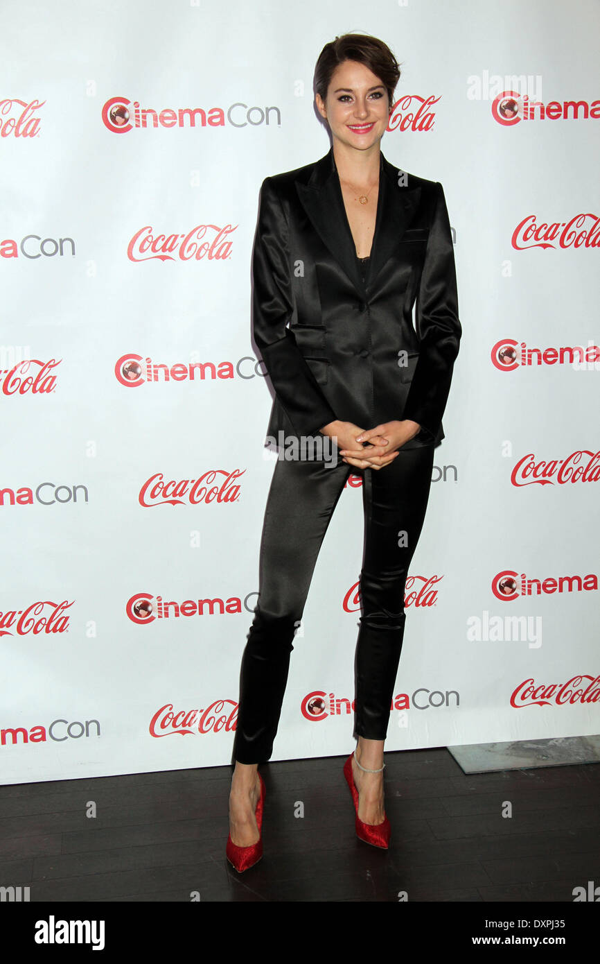 Las Vegas, NV, USA, 27th March 2014: Shailene Woodley in attendance at 2014 Cinemacon Big Screen Achievement Awards held at Caesars Place, Las Vegas, NV March 27, 2014. ENT/Alamy Live News - Stock Image