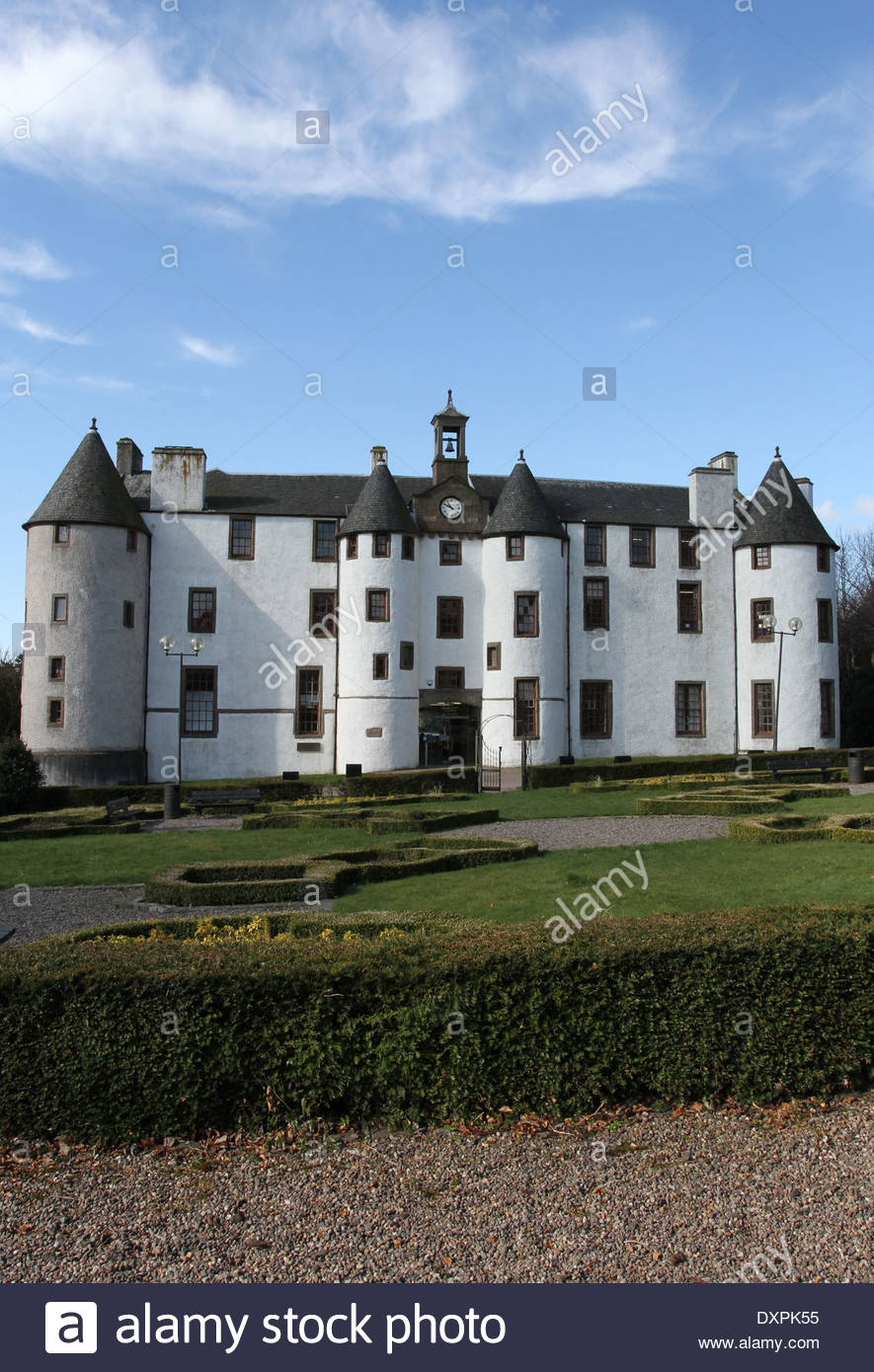 exterior of Dudhope Castle Dundee Scotland  March 2014 - Stock Image