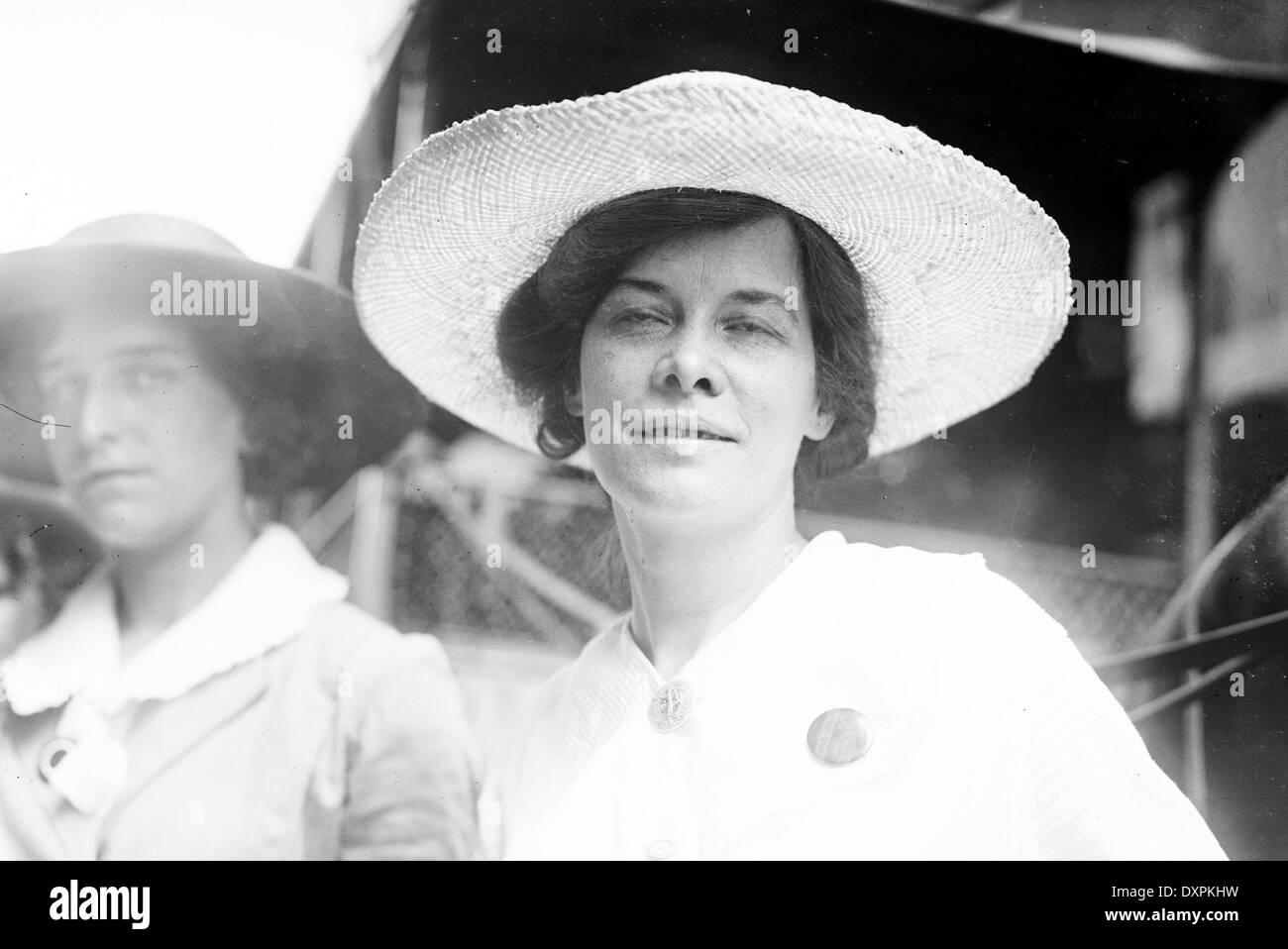 ELISABETH FREEMAN (1876-1942) American suffragette in 1913 - Stock Image