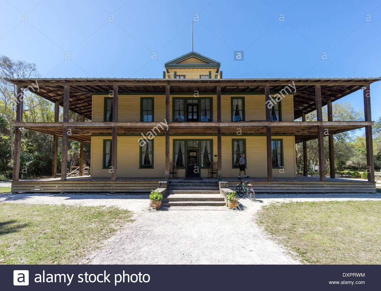 Planetary Court building at the Koreshan State Historic Site in Estero, Florida - Stock Image