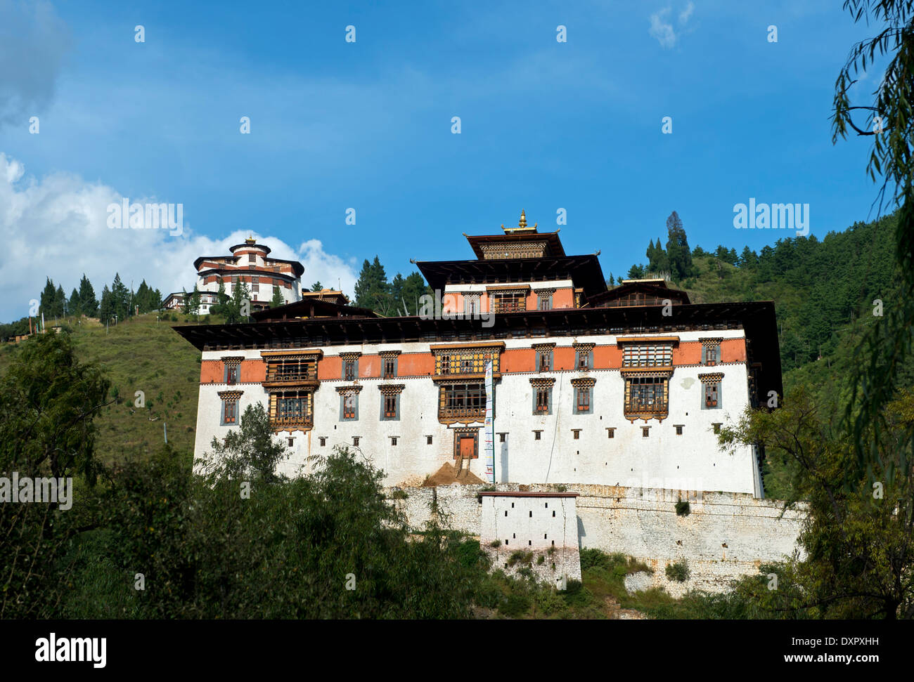 Rinpung Dzong, Drukpa Kagyu Buddhist monastery and fortress, Paro, Bhutan - Stock Image