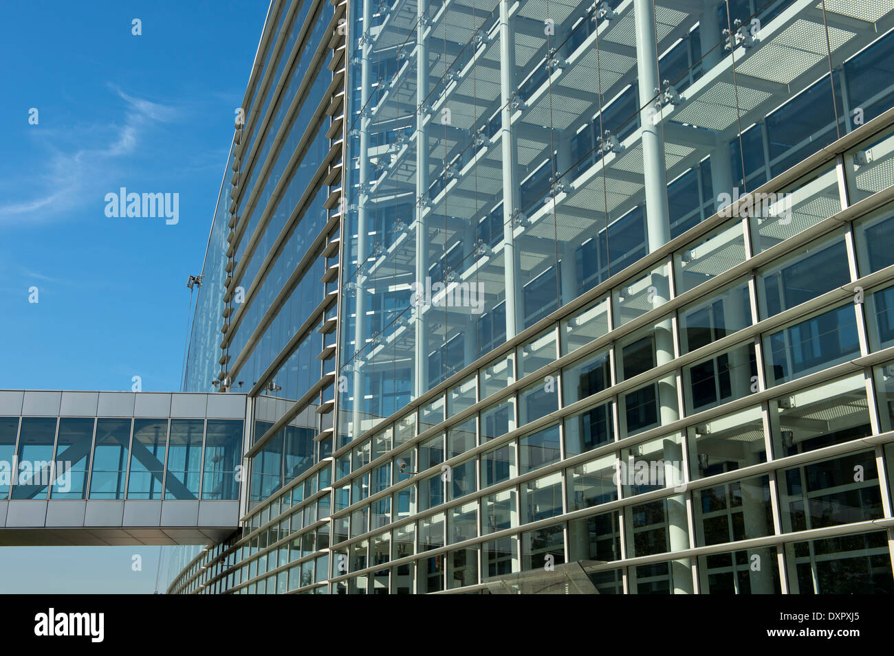 European Parliament building, Strasbourg, Alsace, France - Stock Image