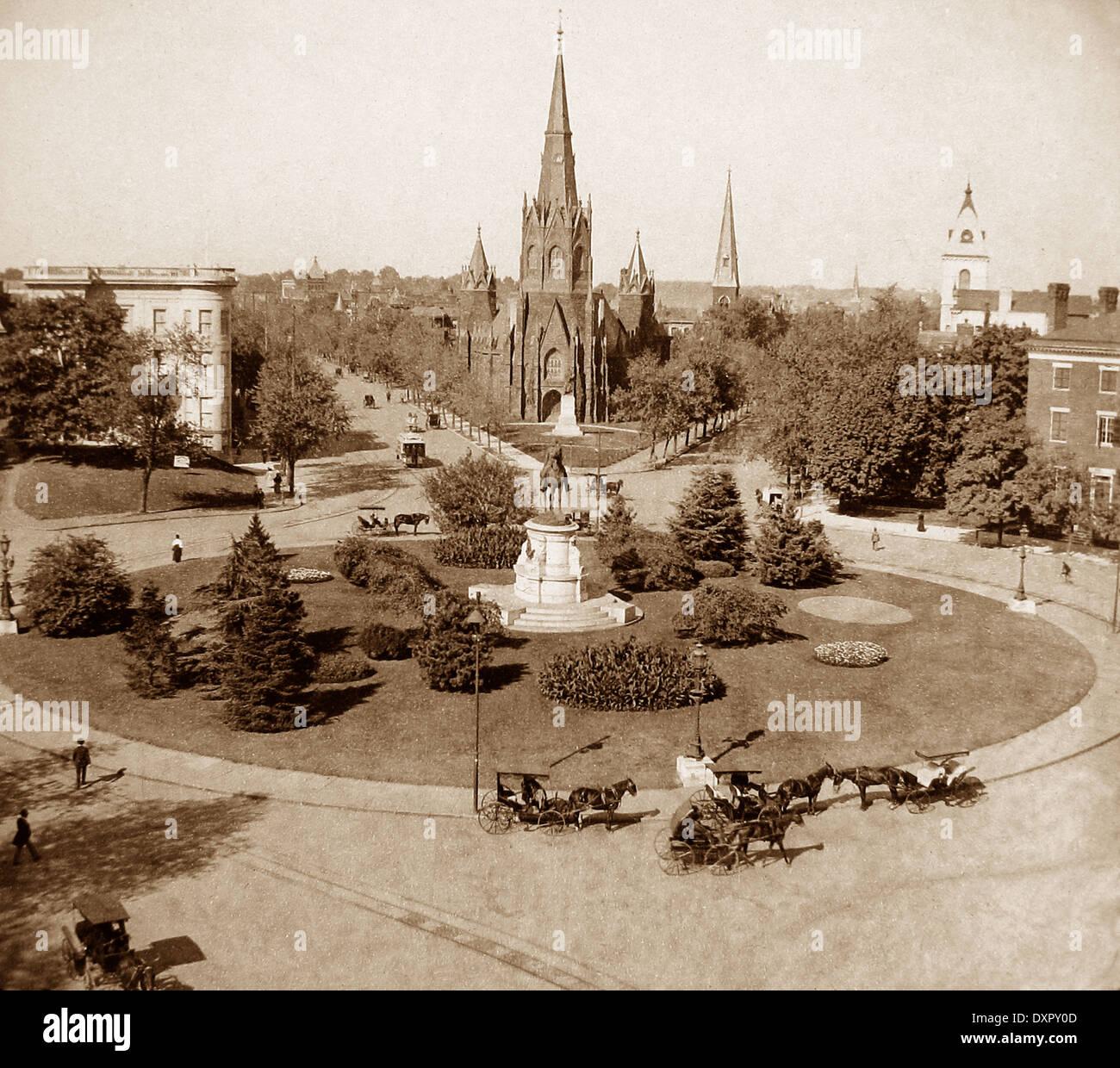 Fourteenth Street Circle Washington DC USA early 1900s - Stock Image