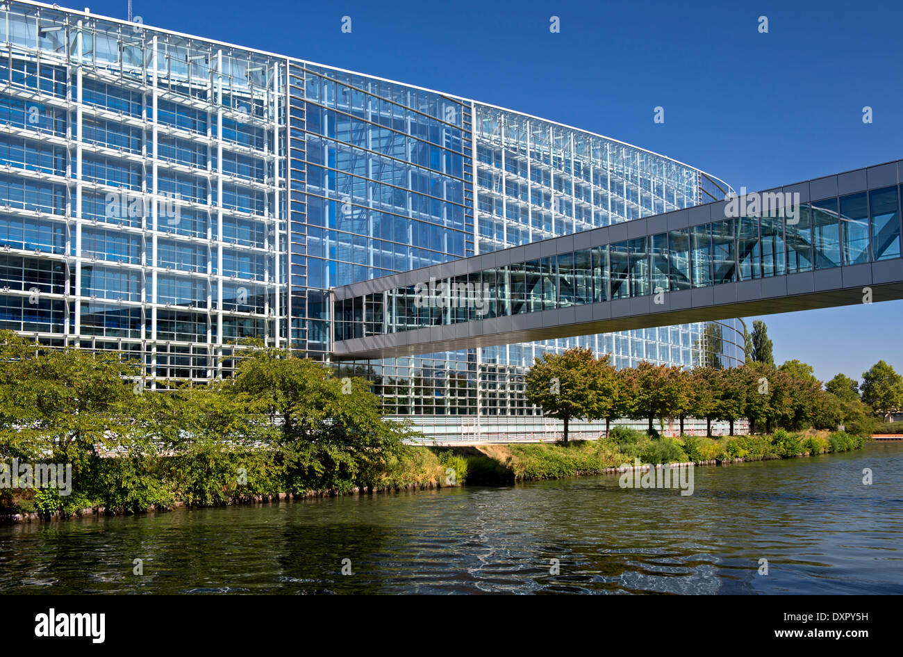 European Parliament building, Strasbourg, Alsace, France - Stock Image