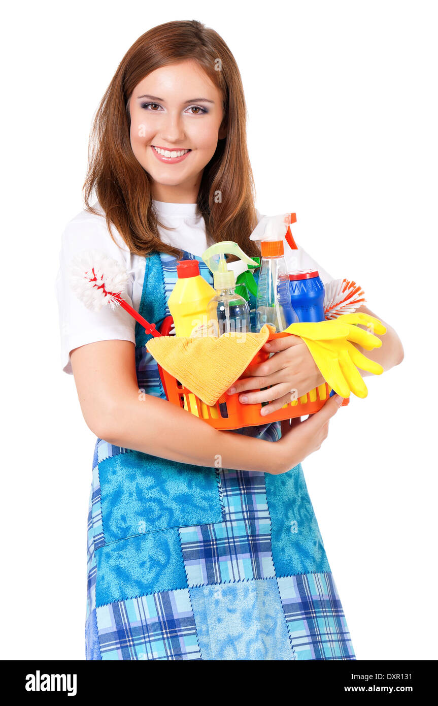 Young housewife Stock Photo