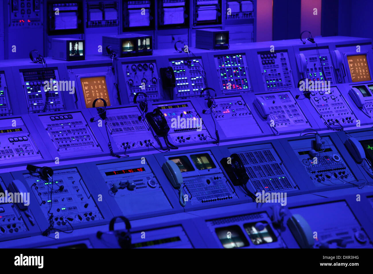 Merritt Iceland, United States of America, control desk in the Visitor Complex at Kennedy Space Center - Stock Image