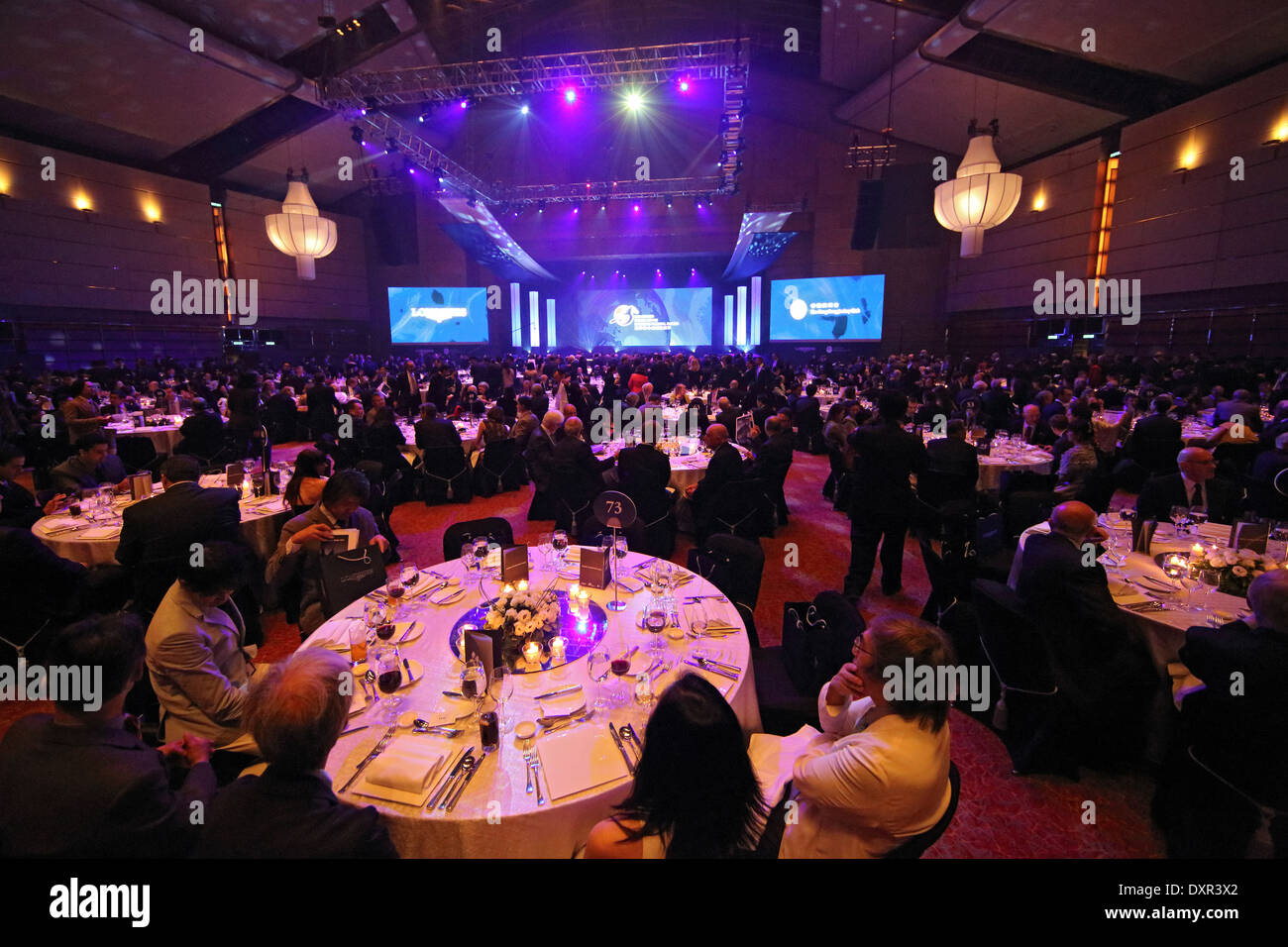 Hong Kong, China, People at a festive gala dinner Stock Photo