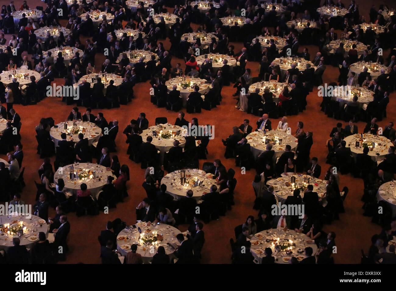 Hong Kong, China, People at a festive gala dinner Stock Photo
