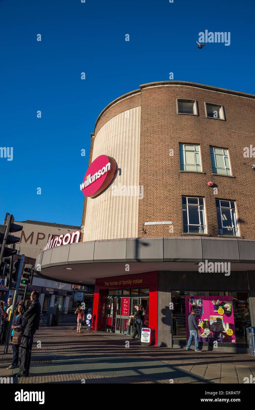 Wilkinson shop, British high-street discount chain, Kingston, London, UK - Stock Image