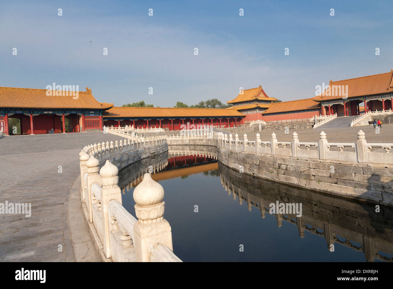 ASIA Beijing CHINA Forbidden City River of Gold Stock Photo