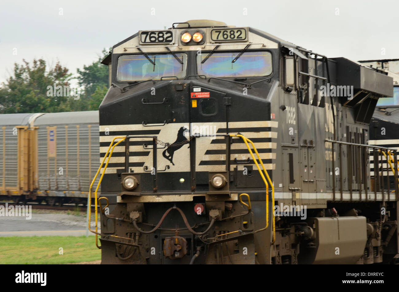 Train locomotive engine - Stock Image