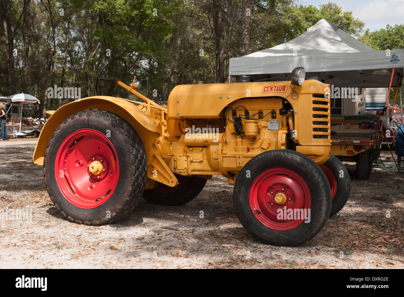 An old antique Centaur tractor - Stock Image