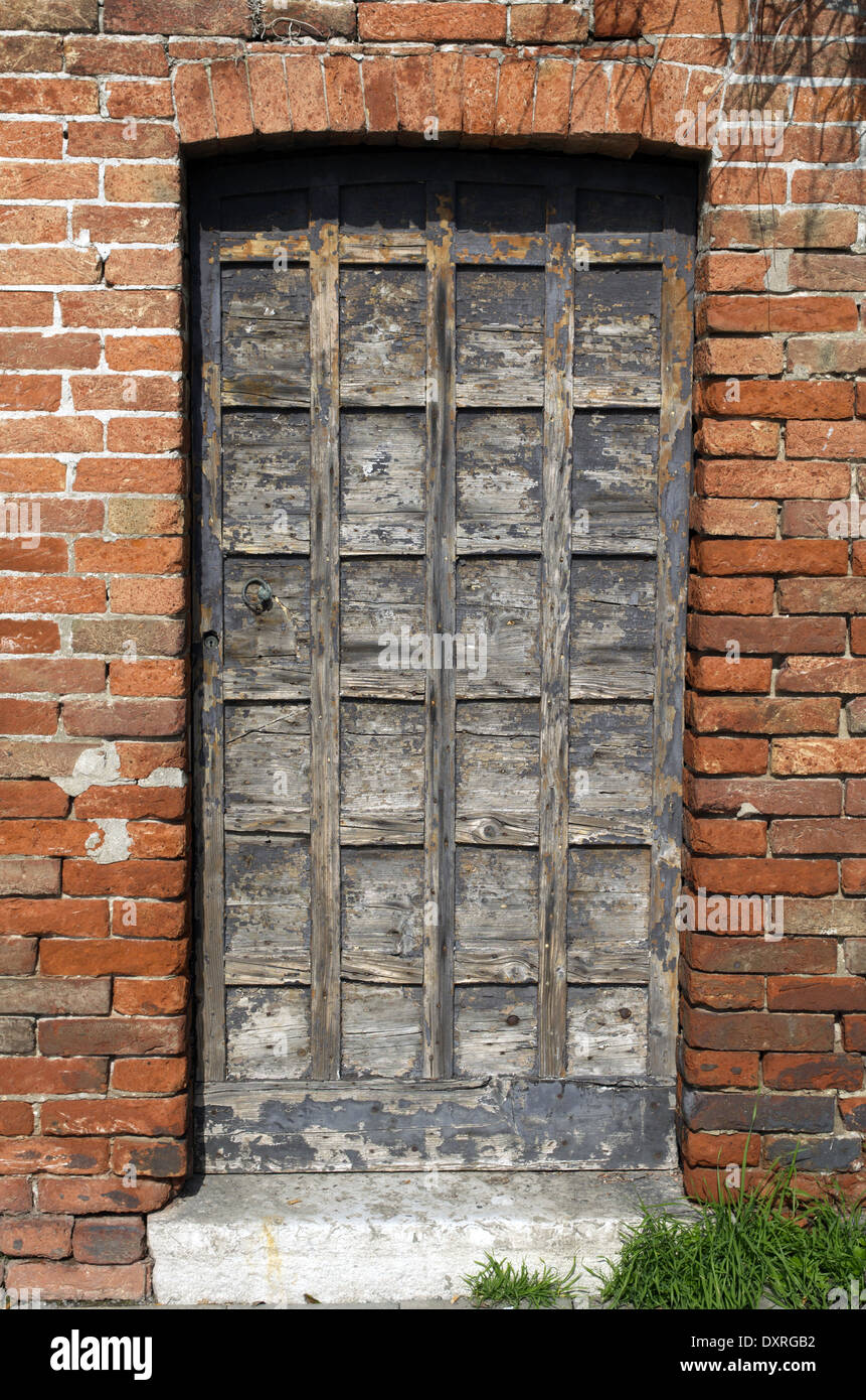 Ruined Wooden Old Fashioned Door In Venice,Italy
