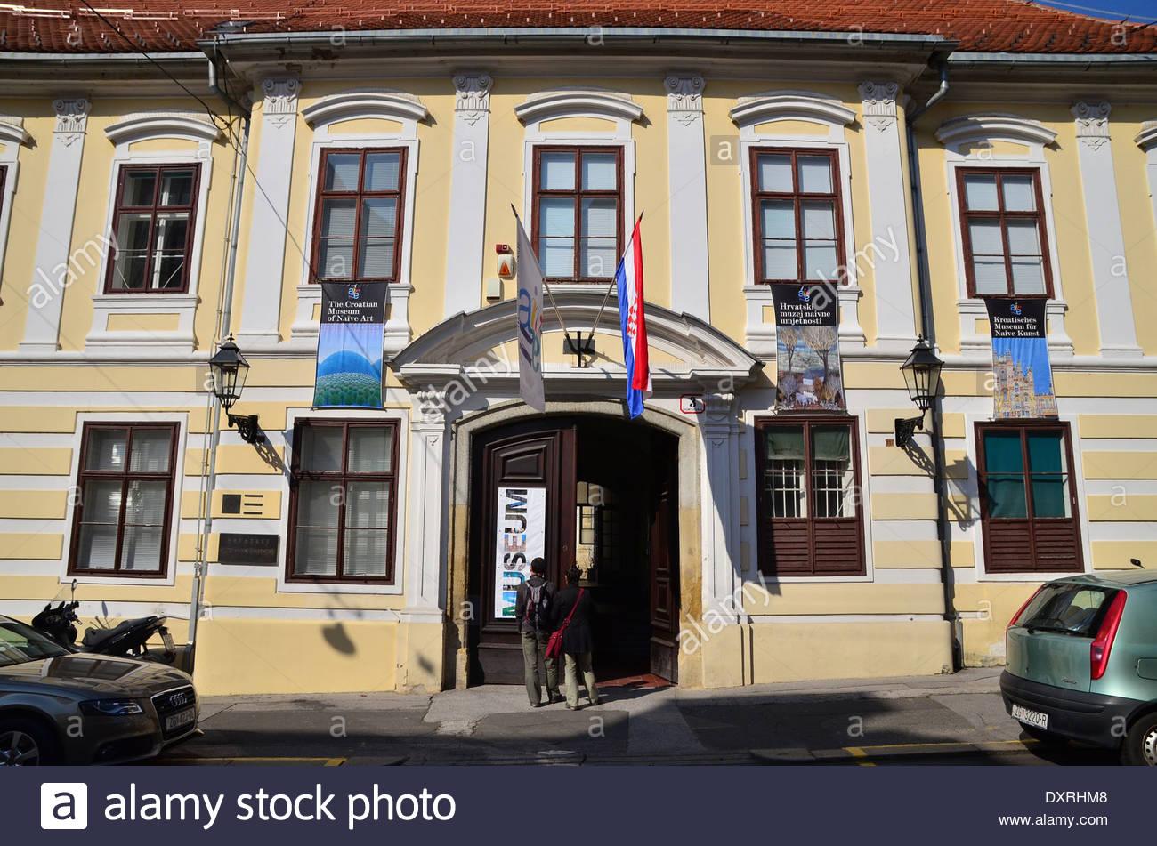 Croatian Museum of Naive Art, upper town(Gradec), Zagreb, Croatia - Stock Image
